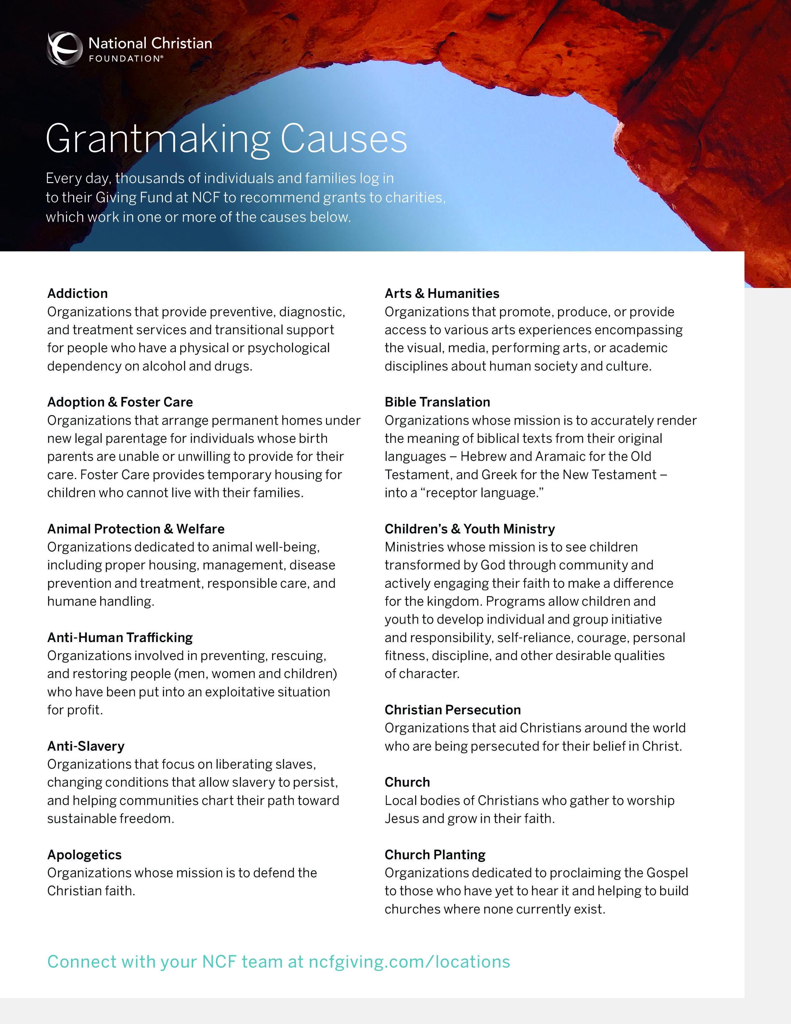 Grantmaking Causes