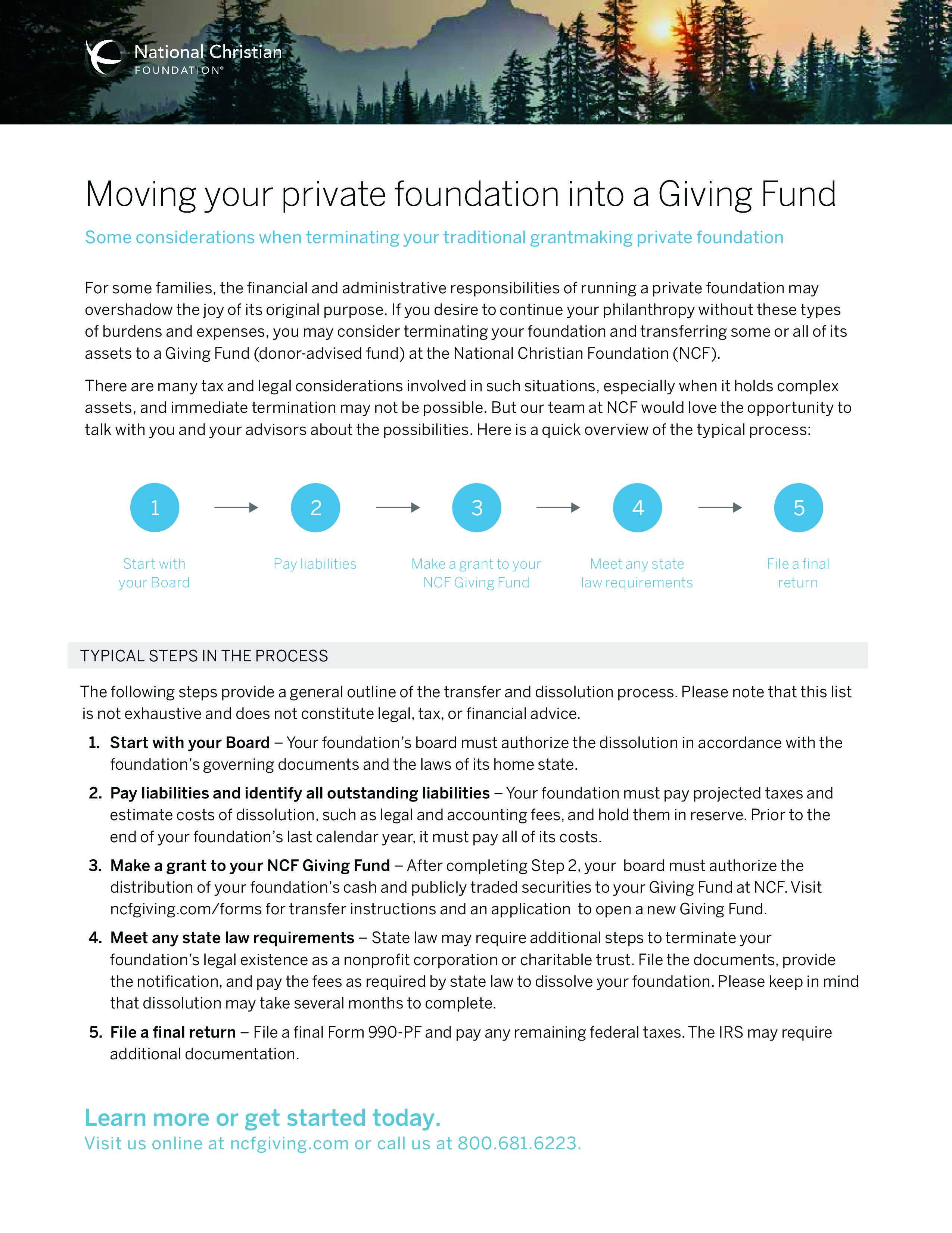 Moving Your Private Foundation to A Giving Fund