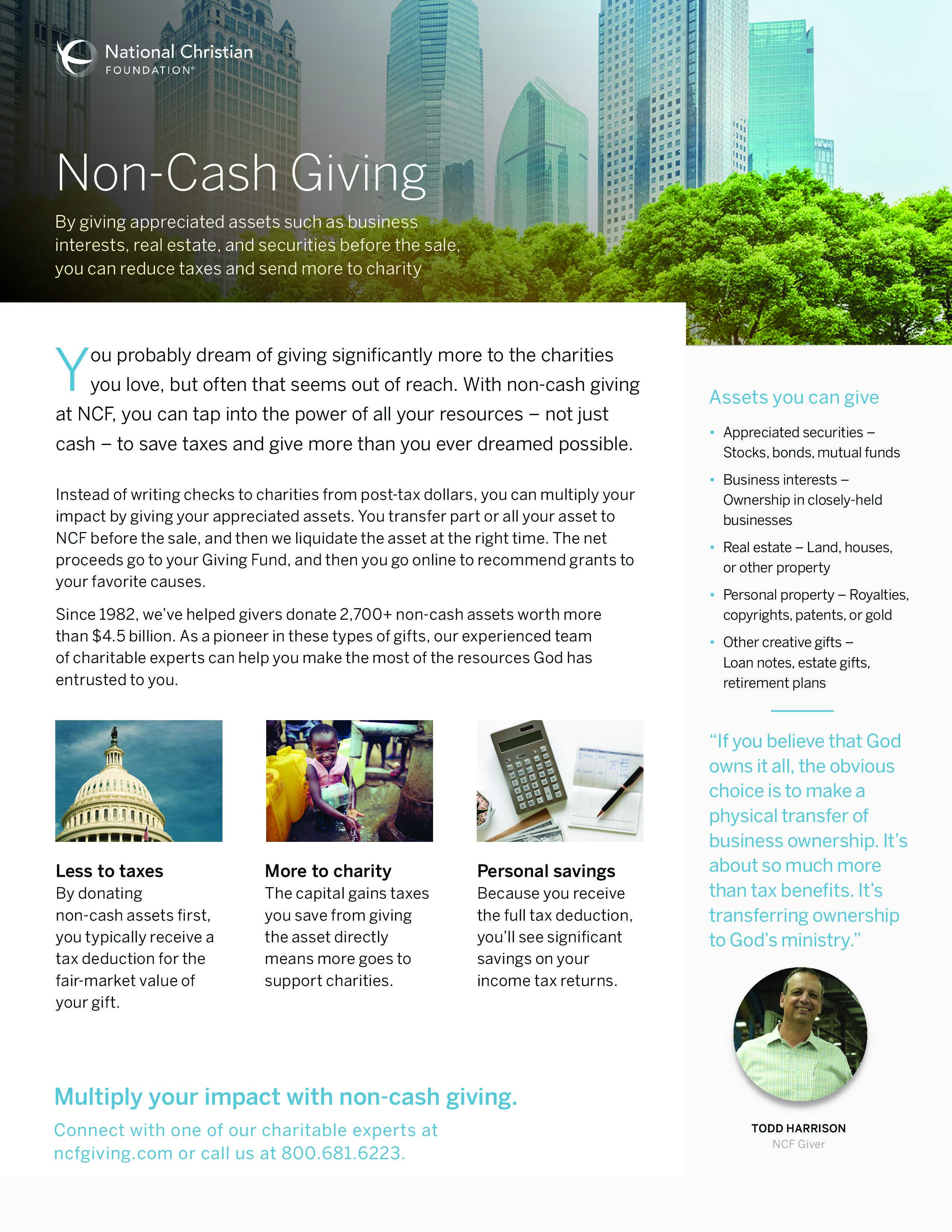 Non-Cash Giving