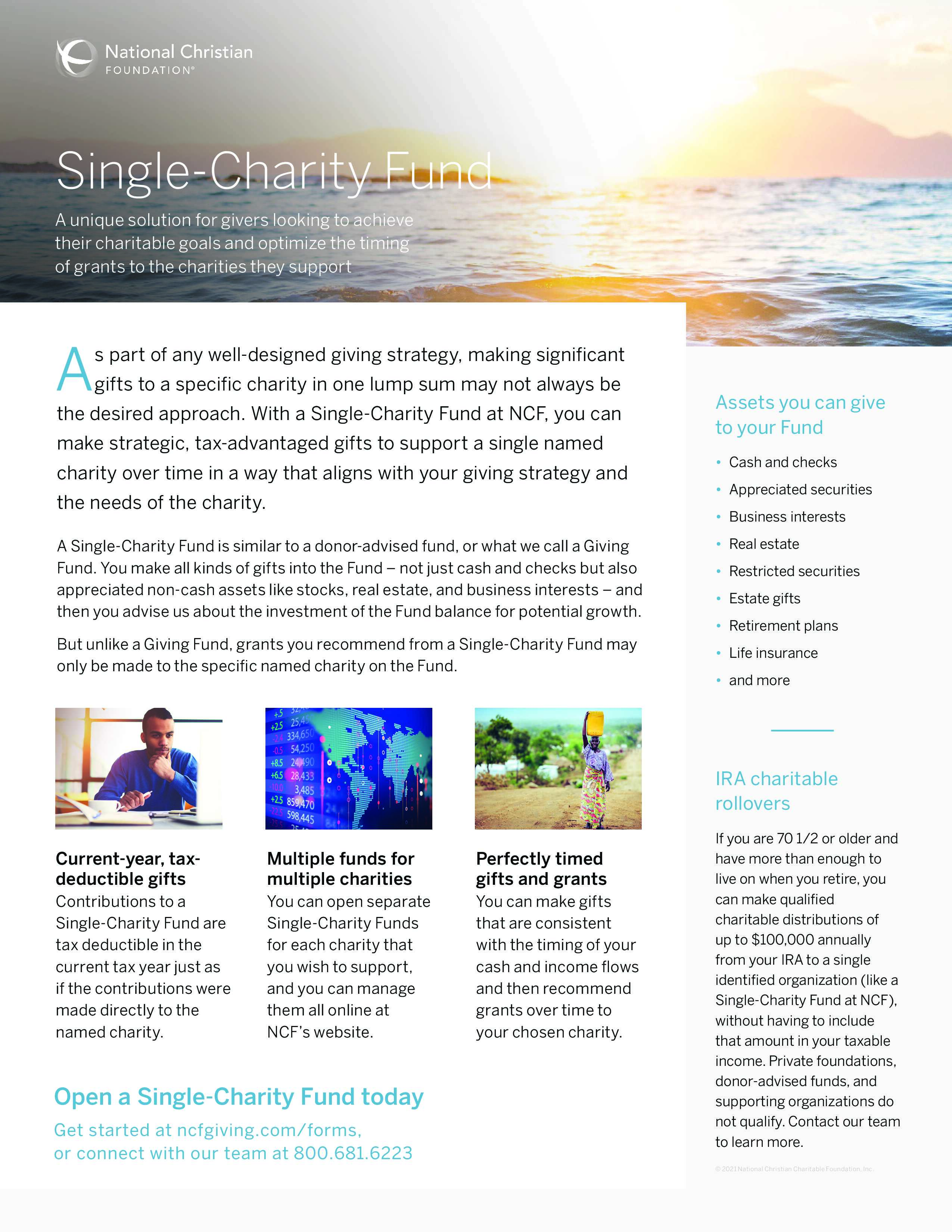 Single-Charity Fund