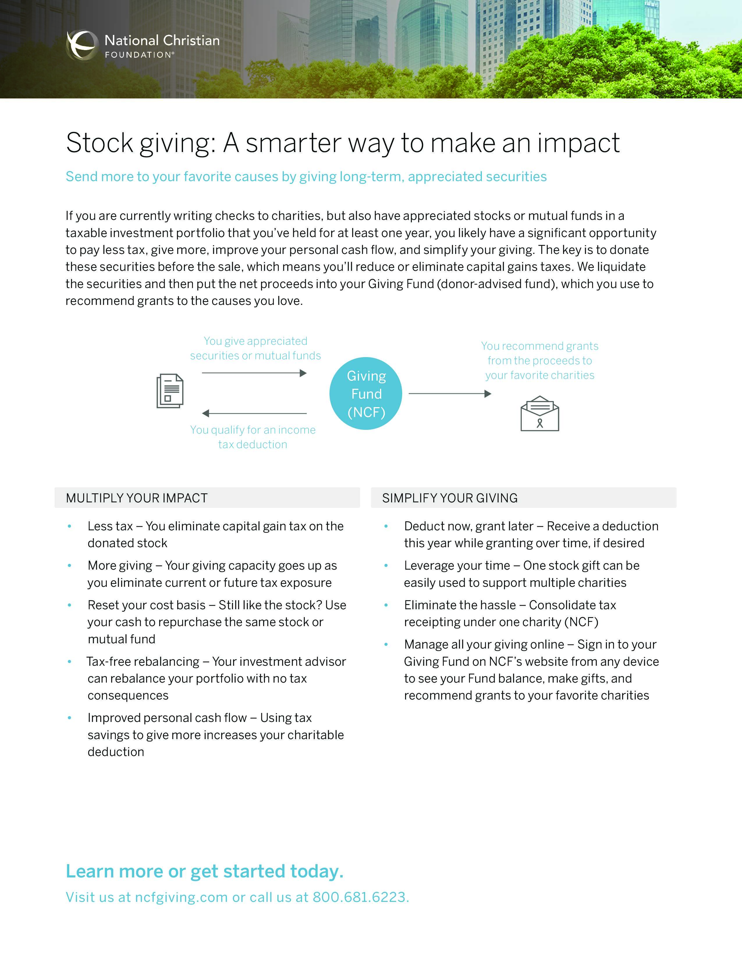 Stock Giving: A Smarter Way to Make An Impact