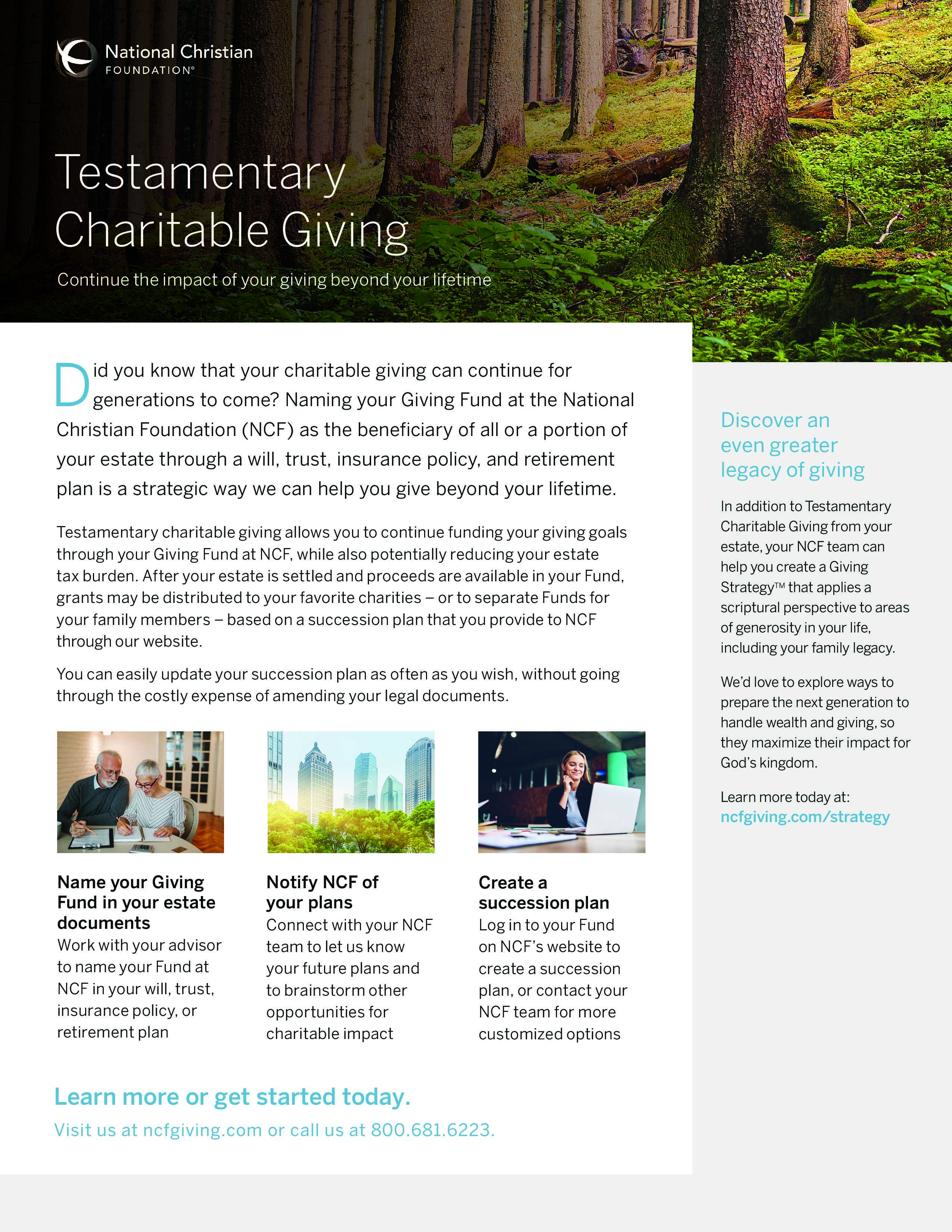 Testamentary Giving
